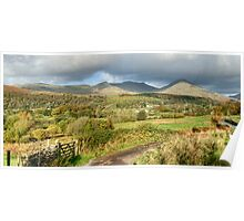 Coniston Fells Panorama Poster