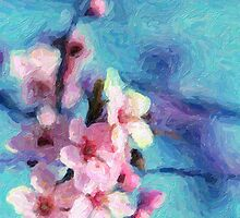 Cherry Flower for ipad - Painting by stereoscopic