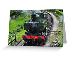 Approaching Buckfastleigh Station Greeting Card