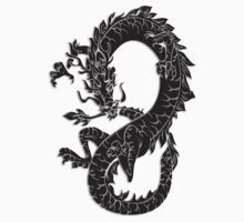 Oriental Dragon in Black  by SpiceTree