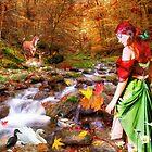 Autumn Walks the Woods by Nadya Johnson