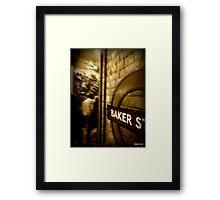 Peak hour at Baker Street tube  Framed Print