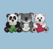 "New ""Care"" Bears Trio- Luck / Wish / Love Kids Clothes"