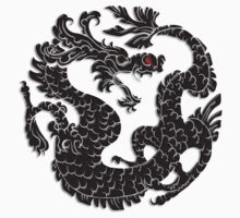 Oriental Dragon in Black 2 by SpiceTree
