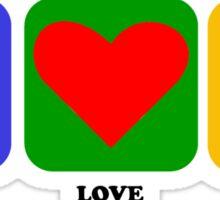 Peace Love Soccer Sticker