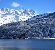 Swiss Mountain Grandeur, St. Moritz, Switzerland by Jennifer Lyn King