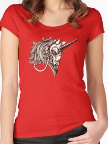 Steampunk Unicorn Fantasy Women's Fitted Scoop T-Shirt