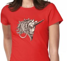 Steampunk Unicorn Fantasy Womens Fitted T-Shirt