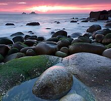 Porth Nanven Sunset by DianeRocks