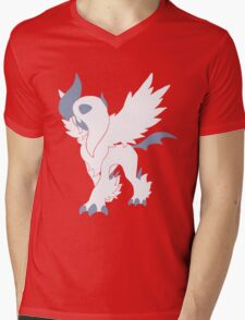 Mega Absol Minimalist Mens V-Neck T-Shirt