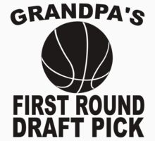 Grandpa's First Round Draft Pick Basketball Kids Tee
