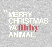 Merry Christmas Ya Filthy Animal by hopealittle