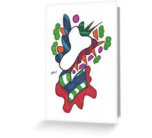 Death's Colorful Abstract Flower Greeting Card