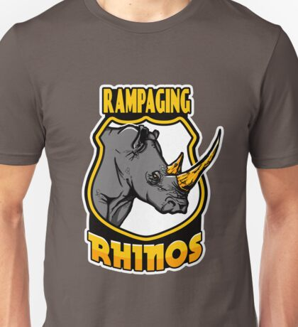 Rampaging Rhinos Unisex T-Shirt