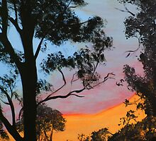 """Backyard Sunset"" by Julie Gilmore"