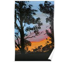 """Backyard Sunset"" Poster"