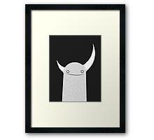 Moonster Black Framed Print