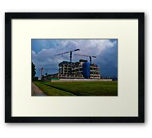 Construction Site in Singapore Framed Print
