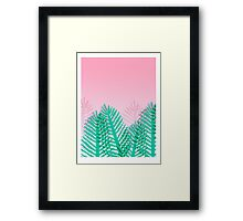 So Fine - palm springs abstract neon 1980s style retro throwback art with palm indoor house plant  Framed Print
