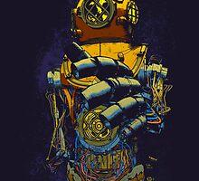 Mechanical Diver by lmilustraciones