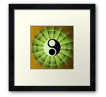 Yin Yang Mandala Framed Print