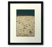 autumn beach Framed Print