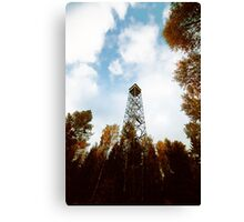 a tower in the forest Canvas Print