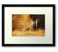 Once Upon a Time... Love/Romance Card Framed Print
