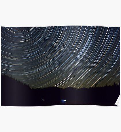 StarTrail Over the Julian Alps Poster