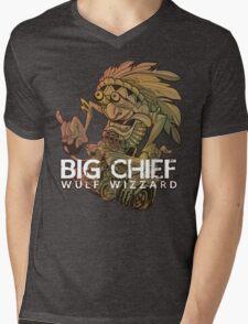 Big Chief Wulf Wizzard Mens V-Neck T-Shirt