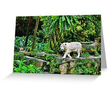 White Tigerrr Greeting Card