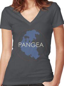 Pangea Women's Fitted V-Neck T-Shirt