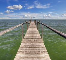 Rockport Images - A Look at the Gulf of Mexico from a Fishing Pier by RobGreebonPhoto