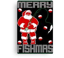 Merry Fishmas Santa Canvas Print