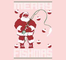 Merry Fishmas Santa Kids Tee