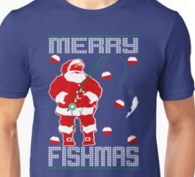 Merry Fishmas Santa Unisex T-Shirt