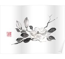 White queen sumi-e painting Poster