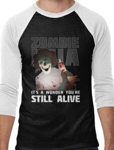 Zombie Leia Men's Baseball ¾ T-Shirt