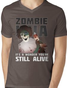 Zombie Leia Mens V-Neck T-Shirt
