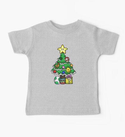 Super Mario - Mushroom Kingdom Christmas Baby Tee