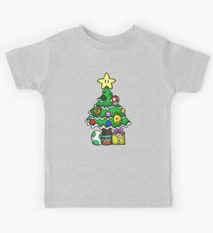 Super Mario - Mushroom Kingdom Christmas Kids Tee