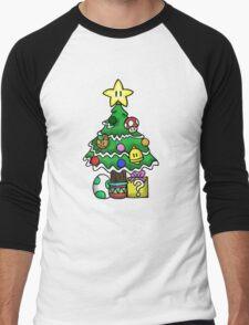 Super Mario - Mushroom Kingdom Christmas Men's Baseball ¾ T-Shirt