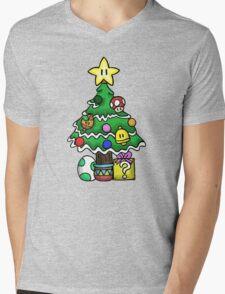 Super Mario - Mushroom Kingdom Christmas Mens V-Neck T-Shirt