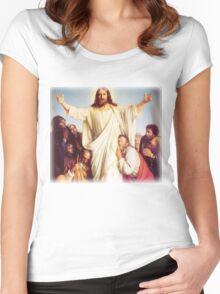 Carl Heinrich Bloch - Consolator Women's Fitted Scoop T-Shirt