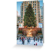 Rockefeller Center Christmas Tree and Skating Rink Greeting Card