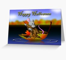 Halloween Mouse Greeting Card
