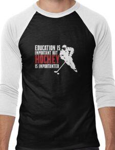 Hockey is importanter Men's Baseball ¾ T-Shirt