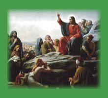 Carl Heinrich Bloch - Sermon on the Mount One Piece - Short Sleeve