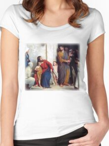 Carl Heinrich Bloch - Suffer the Children Women's Fitted Scoop T-Shirt