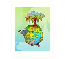 Around The Globe Art Print